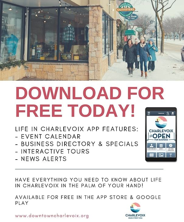 Life in Charlevoix App Flyer